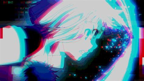 anime aesthetic glitch 4k ultra hd wallpaper anim