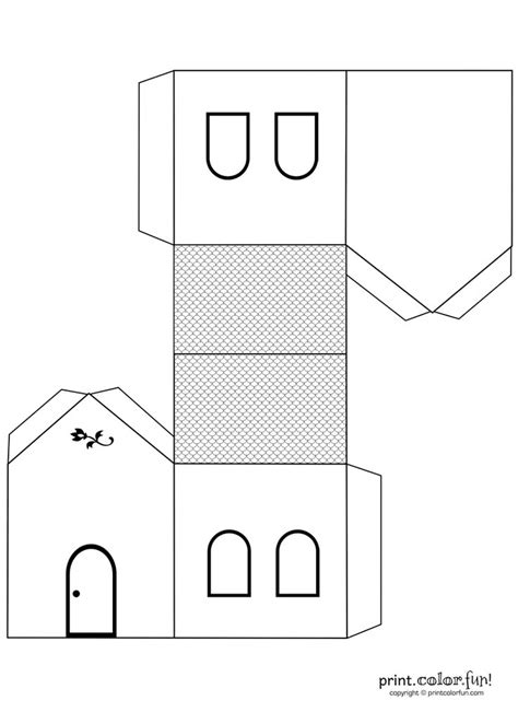 House Template Papercraft Template House Related Keywords Papercraft