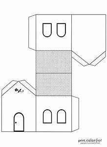 House cutout craft to color | Print. Color. Fun! Free ...