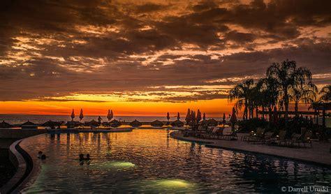Pool Side Sunset In Puerto Vallarta Darrell Uruski