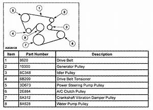 Need A Diagram For A Serpentine Belt On 2003 Windstar 3 8 L
