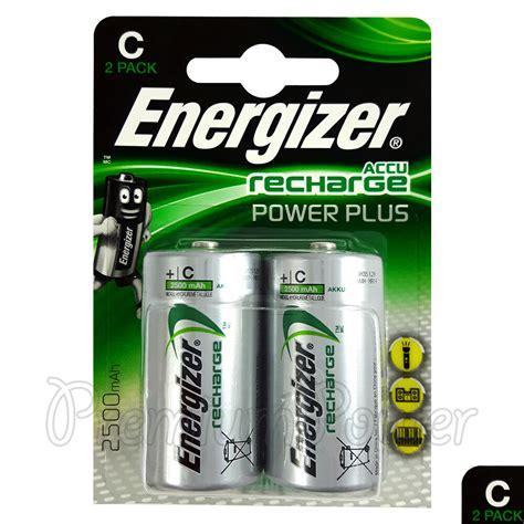 2x energizer rechargeable c size batteries accu recharge power plus nimh 2500mah 7638900138740