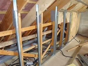 Doubler Un Mur En Placo Sur Rail : poser des rails pour cloisons s ches en placo type ba13 travaux manuels roof insulation ~ Dode.kayakingforconservation.com Idées de Décoration