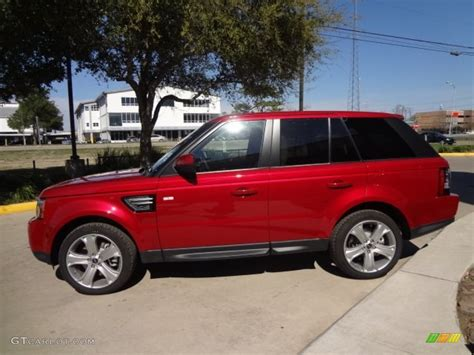 red land rover 2013 firenze red metallic land rover range rover sport hse