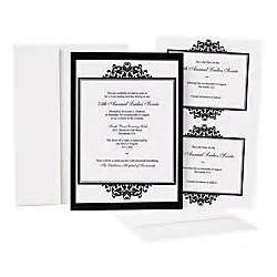 great papers opulent onyx invitation kit 25pk by office With wedding invitations kits office depot