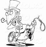 Evil Coloring Cartoon Noose Outlined Clipart Person Toonaday Clipartmag sketch template