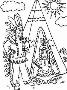Schne Ausmalbilder Malvorlagen Indianer Ausdrucken 3