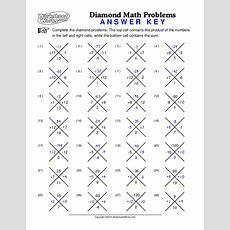 Worksheet Works Diamondmathproblems1