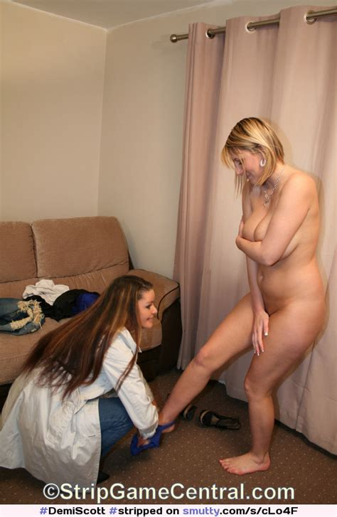 Demiscott Gets Stripped Naked By Her Friend Sarah After