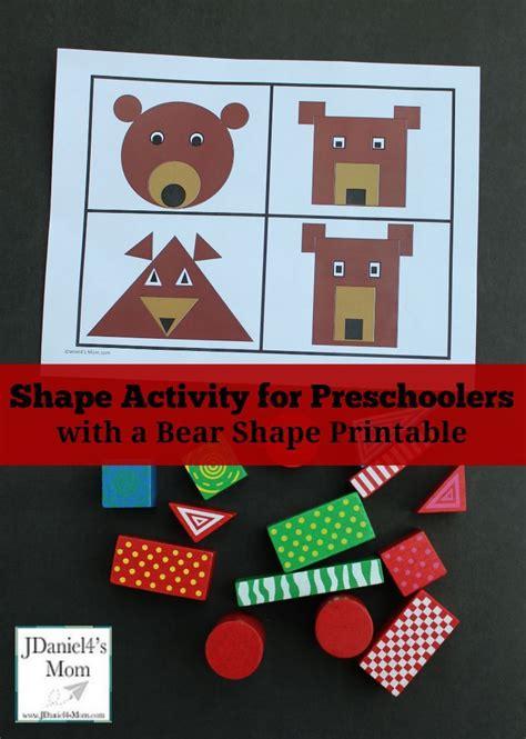 shape activity  preschoolers   bear shape