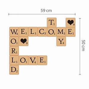 Scrabble Buchstaben Deko : walplus wandsticker buchstaben im scrabble look online kaufen online shop ~ Yasmunasinghe.com Haus und Dekorationen