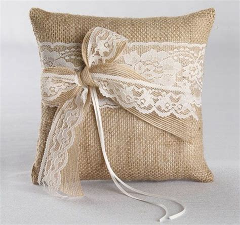this country ring bearer pillow will combine rustic and elegance to your