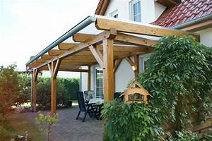 Terrassenuberdachung fichte leimholz mit plexiglas for Plexiglas terrassenüberdachung