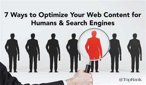Optimizing Your Website For Search Engines by Optimize Your Content For Humans Search Engines