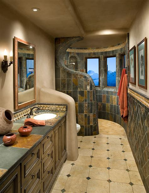 Organic Southwest southwestern bathroom