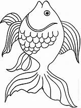 Goldfish Coloring Pages Fish Printable Bowl Drawing Template Getcolorings Crackers Print Pa Goldfishes Colorings Getdrawings Recommended sketch template