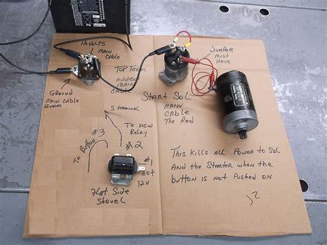 fxe starter solenoid and relay wiring harley davidson