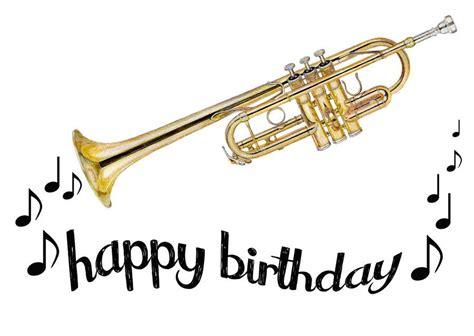 trumpet happy birthday card happy birthday cards happy