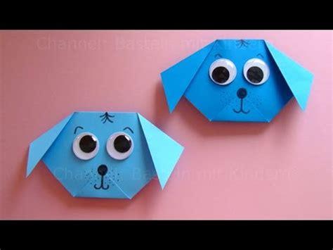 basteln mit kindern mit papier origami hund falten mit papier einfachen hund basteln mit kindern diy origami tiere