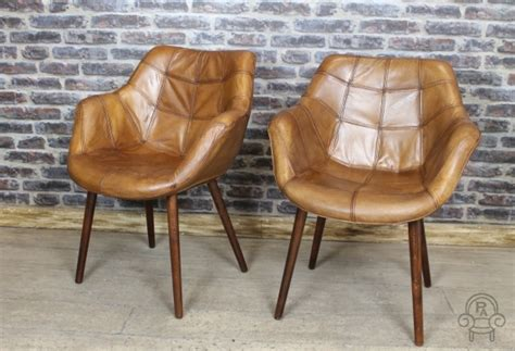 Retro Style Armchair by Vintage Style Chair Leather Armchair