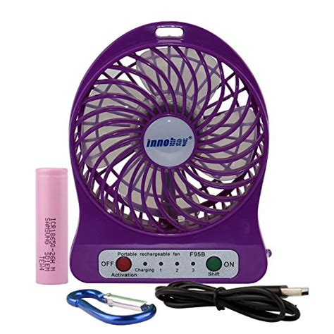 Battery Operated Desk Fan Australia by Innobay 4 Inch Portable Personal Fan Rechargeable Battery