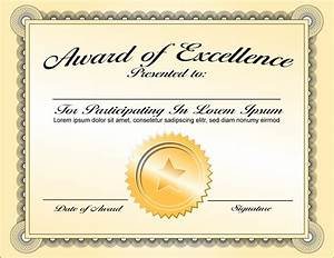 8+ awards certificate template - bookletemplate.org