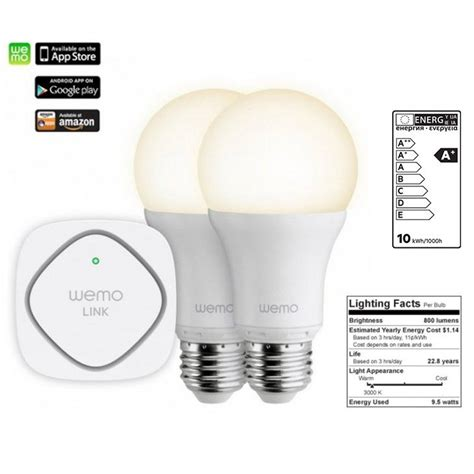 wemo led lighting starter set belkin wemo lighting led starter set wemo link 2 led