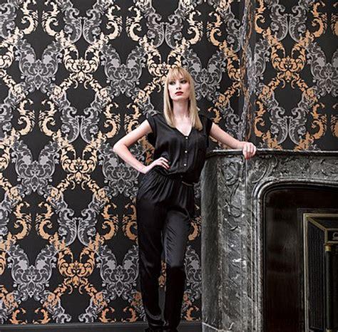 tapete schwarz grau ornamentals barock tapete ornamente 48665 schwarz gold grau 6 56 pro m 178 ebay
