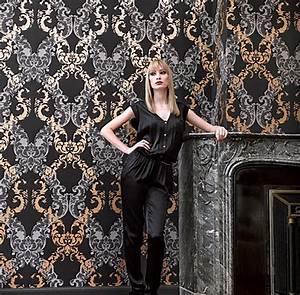 Tapete Barock Schwarz : ornamentals barock tapete ornamente 48663 schwarz silber grau euro pro m ebay ~ Yasmunasinghe.com Haus und Dekorationen