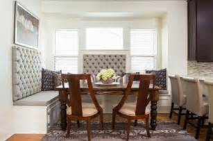 thomasville dining room sets furniture grey upholstered curved bench with table