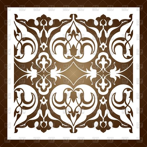 laser cut floral ornament silhouette pattern printing