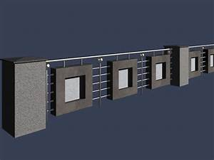 Road safety fence 3d model 3dsMax files free download ...