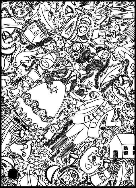 doodle art coloring pages    gianfredanet