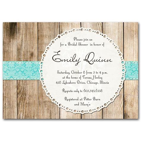 bridal shower invitation rustic vintage gender neutral