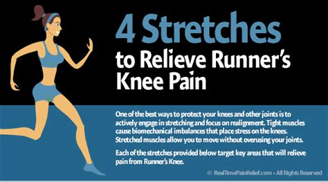 stretches  relieve runners knee pain real time pain