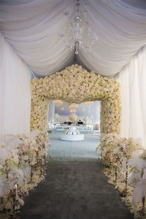 wedding reception entrance drapery ideas to stun your wedding guests onewed