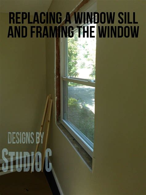 A Window Sill by Replacing A Window Sill And Framing The Window Designs