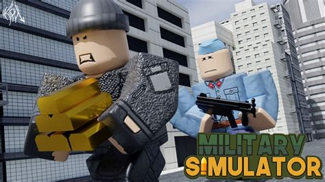 military simulator bank robbery roblox