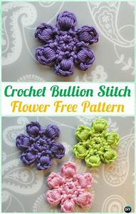 Crochet Bullion Stitch Free Patterns  U0026 Instructions  Video