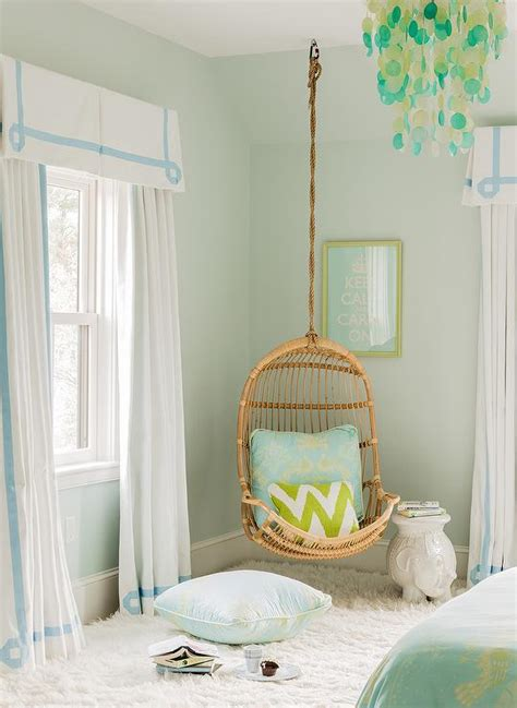 blue and green s bedroom features pale green walls