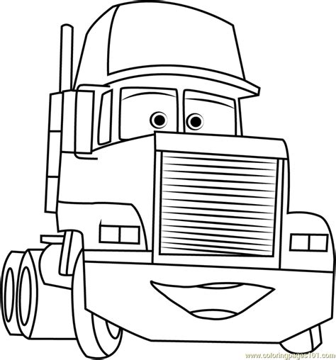 mack trailer coloring page  cars coloring pages coloringpagescom