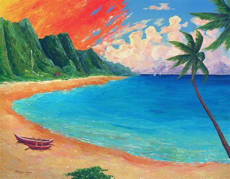 sunset beach drawing  getdrawingscom