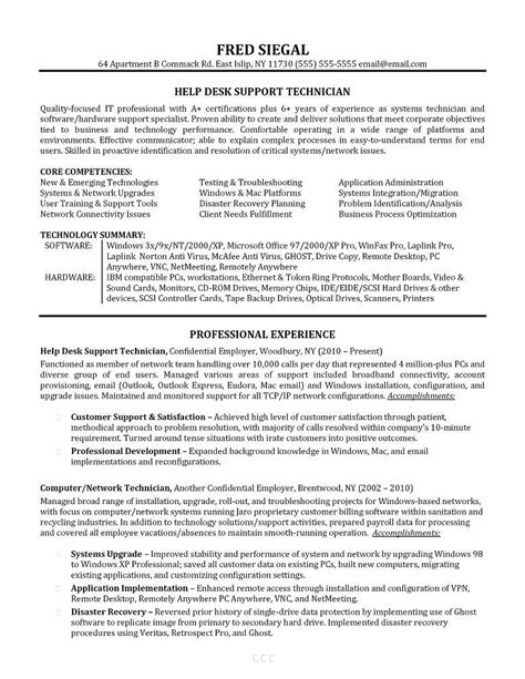 Help Desk Support Resume Template by Help Desk Resume Sle Exle