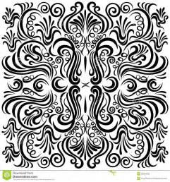 design pattern design pattern with swirling floral decorative orn royalty free stock photos image 35534358