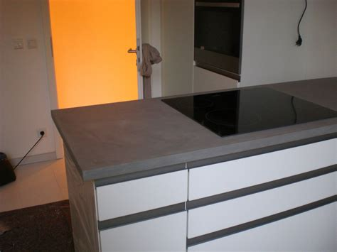 Beton Möbel. Beton Cire Küchenarbeitsplatte. Beton Tisch