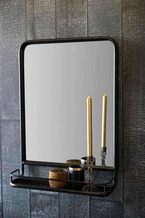 Mirror Shelf Bathroom by Antique Brown Mirror With Shallow Shelf Portrait Room
