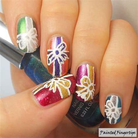 easy christmas present nail art designs ideas