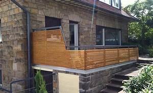 Balkon Sichtschutz Holz : noch ein gel nder mit holz dachterrasse balkon ~ Watch28wear.com Haus und Dekorationen