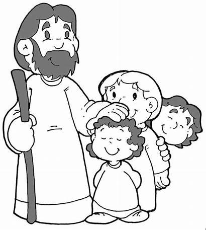 Jesus Children Coloring Pages
