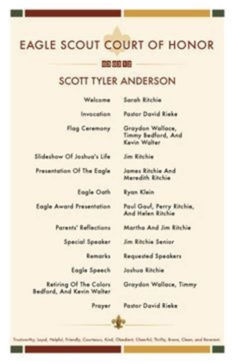 eagle scout ceremony program template 70 best images about eagle scout on program template eagle scout cake and the eagles